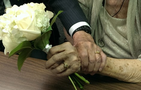 A first time bride at 87, Marilyn Gibbs finds her true love at The Fountains at Boca Ciega Bay.