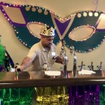 Even Juan, one of our new Maintenance men, got behind the bar for such a huge crowd!