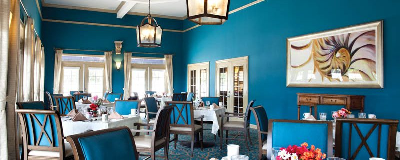 Enjoy comfortable elegance in our Key West Dining Room.