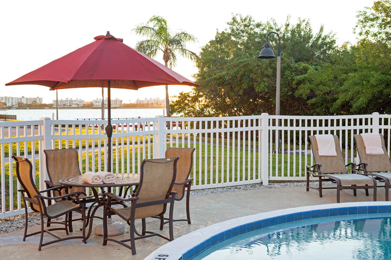 Enjoy our waterfront heated outdoor pool.
