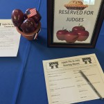 Our set up on the judge's table
