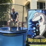 Our Dining Services Director, Chris Wojewnik, in the dunk tank