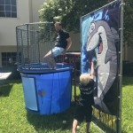 Our Associate Executive Director, David, taking his turn in the dunk tank