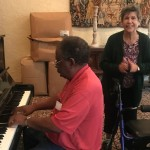 Jim Bolden and Mary Longamore dancing next to him as he played us some feel good songs to sing along to.