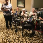 Residents of The Fountains at Boca Ciega Bay in their temporary location at The Watermark at Trinity. Photo taken by Shirley Shockley, Watermark Regional Director of Nursing who has flown in to assist during Hurricane Irma.