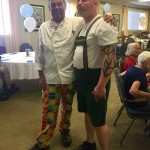 Chef & Chris, the Dining Services Director sure do get into the spirit
