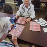 First game of bingo back at home.