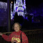 Lovely Judy with a lovely castle.