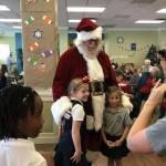 Our Savior Lutheran students with Santa