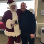 Dining Services Director, Chris, meeting with Santa