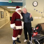 Mr. Holmes meeting with Santa