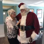 Judy was so happy she hugged Santa for the longest!
