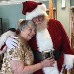 Gloria and Santa hugs!