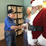 Santa thanked our military men for their service