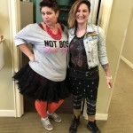 Community Life Director, Melissa, and Resident Relations Director, Lisa, are big fans of the 80's!