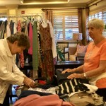 Resident volunteer, Dolores, was fantastic at organizing the clothing table. She barely had anything left at the end!