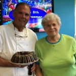 Chef & Bonnie sharing about the special Kahlua cake and the story behind it!