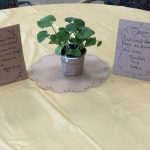 Each table had a herb or vegetable on it as the centerpiece. Each of those will then be grown in the Gardens Green House for future use!