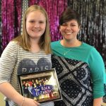 Community Life Director, Melissa, presented Elizabeth with the photo from the associates and residents.