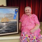 Sandy Talbot took home 1st place with her Together on the Bay. It was the first art show she ever entered!