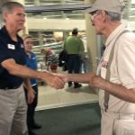 Meeting one of the organizers of Honor Flight WCF.