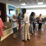 Learn to Dance Basic Salsa: Weslee from marketing jumped in, too!