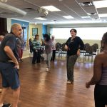 Learn to Dance Basic Salsa: Merav from HR jumped in, too!