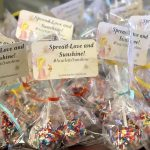Special cake pops with Scarlett's Sunshine tags to share Smiles