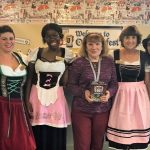 Beer maidens, patrons and donning lederhosen is with whom we enjoyed the day!