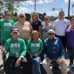 Palms of Pasadena officials,  Commissioner, Gail Neidinger,  Robyn Lisk and Kaylie Male of the Alzhiemer's Assocation, Fire Chief, David Mixon, Community LIfe Director of the Fountains, Melissa Krysh, Mr. Dick Holmes, Judy Goetz of Palms of Pasadena, Mayor Max Elson
