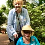 Beautiful ladies in the Butterfly Conservatory