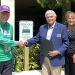 Mr. Dick Holmes, Mayor Max Elson and Executive Director, Suzanne Burtzlaff