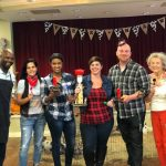 The Chili Makers and winners! (Left to Right) Ray Flournoy, Eva Viera, Alexsa Squire won 2nd Place, Melissa Krysh won 1st Place, Chris Wojewnik won 3rd Place, Janet Race & Bertha McBride