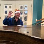 Rob performing on the piano for ALF's Chipmunk Christmas skit