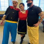 Popeye, Olive Oyl & Popeye getting along for once!