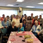 Family & friends gathered in the Friendship Room to celebrate Pearl's 100th Birthday
