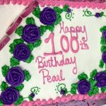 The beautiful strawberry & banana filled Publix cake her daughter had made