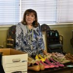 Veteran Vicky spent many hours sorting and organizing and manning tables for the sale
